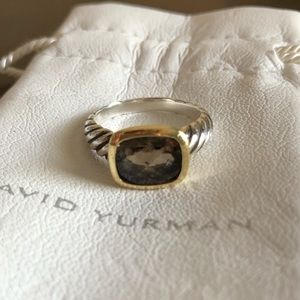 David Yurman Smoky Quartz Silver/18k Noblesse Ring